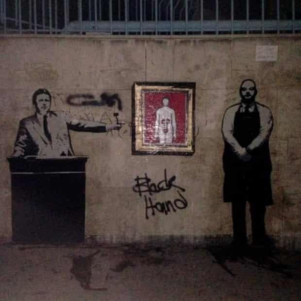Iran's Banksy kidney sale