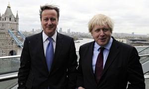 Boris Johnson with David Cameron