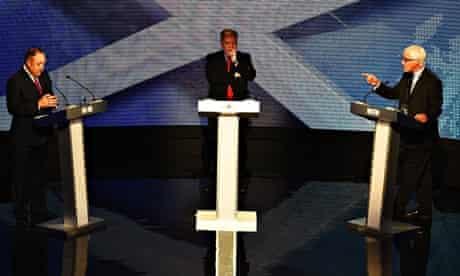 Television Debate Between Alex Salmond And Alistair Darling