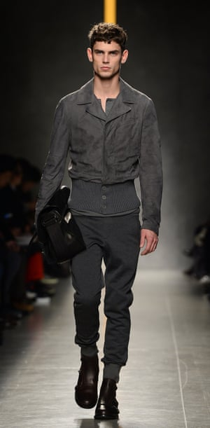 Tracksuit bottoms at the Bottega Veneta Autumn/Winter 2014