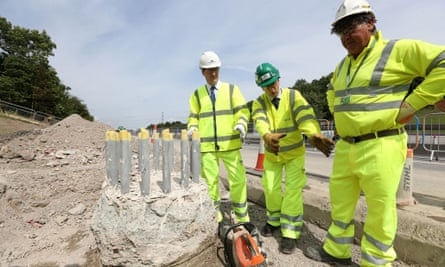 George Osborne (pictured left) backed higher infrastructure spending in the north of England.