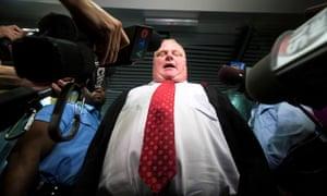Mayor Rob Ford amid a press frenzy