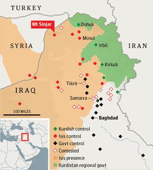 40,000 Iraqis stranded on mountain as Isis jihadists threaten death