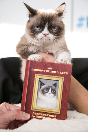 """Grumpy Cat shows her new book, """"The Grumpy Guide To Life: Observations By Grumpy Cat"""""""