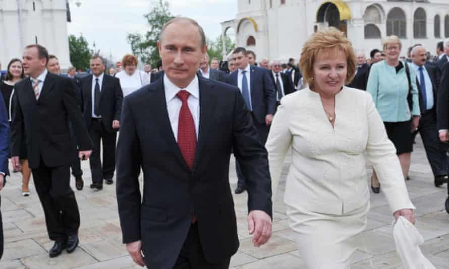 President Vladimir Putin (L) and his then wife Lyudmila in 2012.