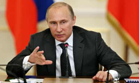 Russian President Vladimir Putin Hold A Government Meeting On Arms Manufacture