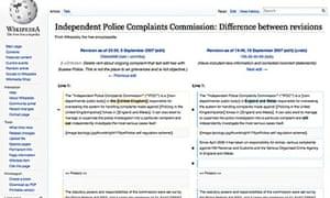IPCC wikipedia edits