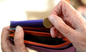 pensioner coin purse money stock