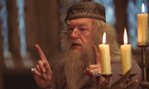 Albus Dumbledore played by Michael Gambon in The Prisoner of Azkaban