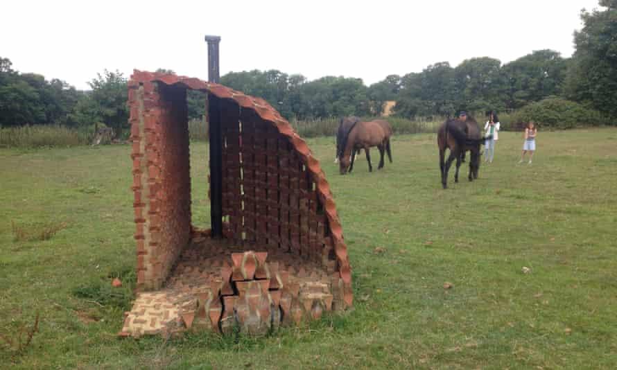 Brick folly … Terracott by Samantha Oswald, built of hand-made bricks dug from local clay.