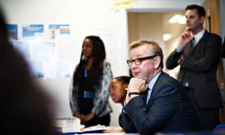 Michael Gove at Perry Beeches III free school in Birmingham.