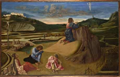 suns 2 The Agony in the Garden (c.1465) by Giovanni Bellini.