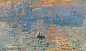 Suns 3 Impression, Sunrise (1872) by Claude Monet