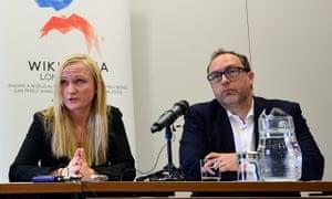 Lila Tretikov and Jimmy Wales