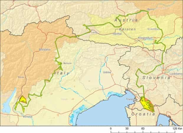 Slavc's route across Europe