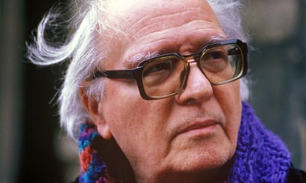 Olivier Messiaen at the Church of the Trinite in Paris, France on March 13th , 1988.