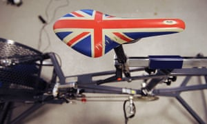 The saddle of the simulation bike built in the lab of the English Institute of Sport.