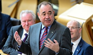 Salmond faces challenge over currency at First Minister's Questions