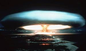 Nuclear bomb at Mururoa atoll