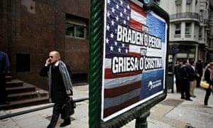 Argentina debt sign Buenos Aires