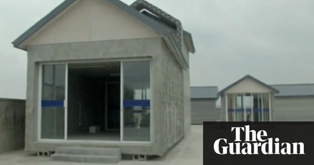 3d printer builds houses in china video technology the guardian - 3d House Building