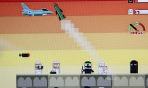 """Screenshot of the game """"Bomb Gaza"""", pulled from Google Play this week."""