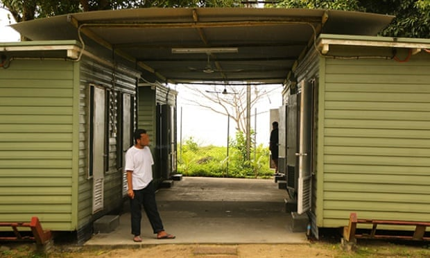 Supplied image of an asylum seeker arriving on Manus Island. Photograph: Department of Immigration