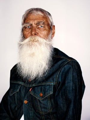 Frank Moon, 74, poses for his #Project60 portrait. Frank, from Leamington Spa, Warwickshire has been growing his beard from the age of 20.