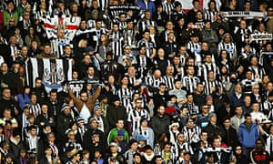 Newcastle fans in New Zealand stand in a minute's silence to remember John Alder and Liam Sweeney