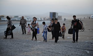 Yazidi people flee Isis in Iraq