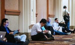 Hackers at Black Hat hackers' convention