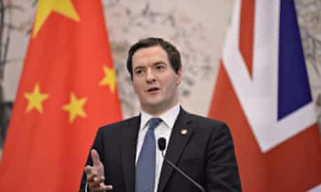 UK chancellor George Osborne on a China trade mission in 2013