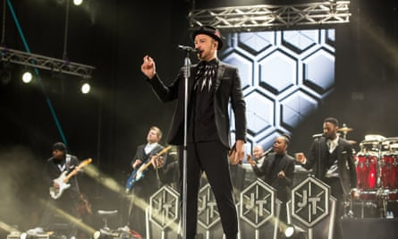 Justin Timberlake performs during the opening of the 13th Mawazine festival, which marked his debut show in Morocco.