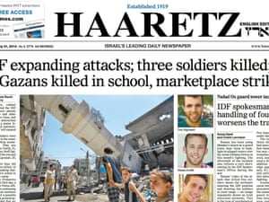 Israel's Haaretz newspaper. 'A study has found it is the source most cited, and presumably most trusted, by supporters of both Israel and the Palestinians.'