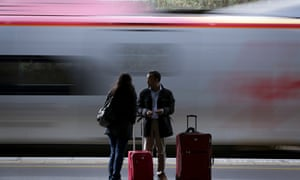 The seasonal shift sees commuters abandon their train seats to holidaymakers
