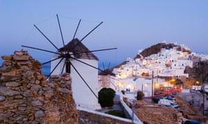 Windmill in Chora, Serifos, Greece