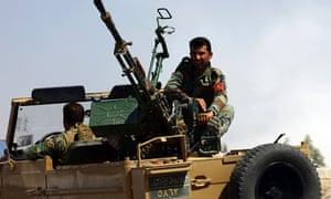 Kurdish Peshmerga troop