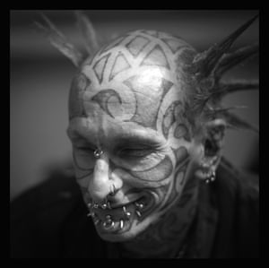 A pierced punk