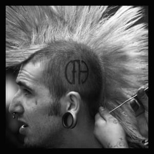 Punk Willsey has his hair styled