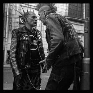 Punks in discussion