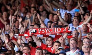 Nottingham Forest's fans in the stands show their support for manager Stuart Pearce at the City Ground, Nottingham.