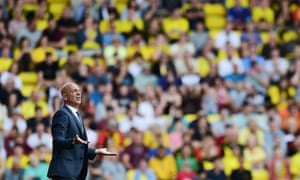 Watford win but manager Guiseppe Sannino still looks unhappy.
