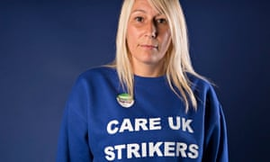 Striking NHS Care worker Cheryl Fawley is fighting for a living wage at Care UK in Doncaster.
