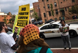 Baltimore curfew laws protest