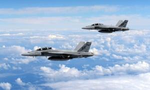 Super-Hornet jet fighters