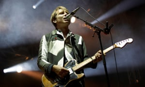 Alex Kapranos of Franz Ferdinand performs on stage headlining on Day 2 of Pstereo Festival on August 16, 2014 in Trondheim, Norway