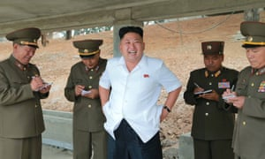 Kim Jong-un gives field guidance at a construction site near Pyongyang, according to KCNA