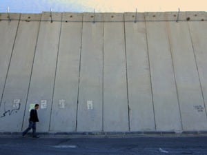Israel's separation wall in the West Bank.