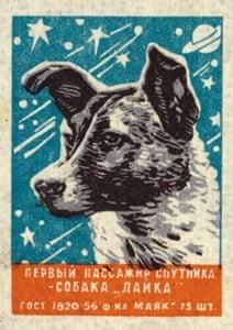 Laika Matchbox label, USSR (c.1957)