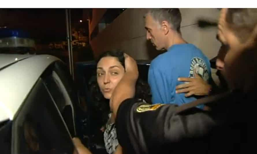 Naghmeh King, the mother of Ashya King, being escorted by the Spanish police